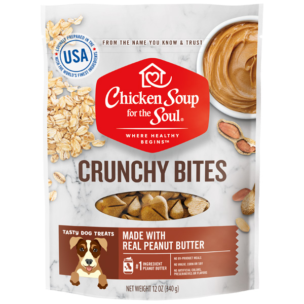 Dog Treats - Peanut Butter Crunchy Bites (front of bag)