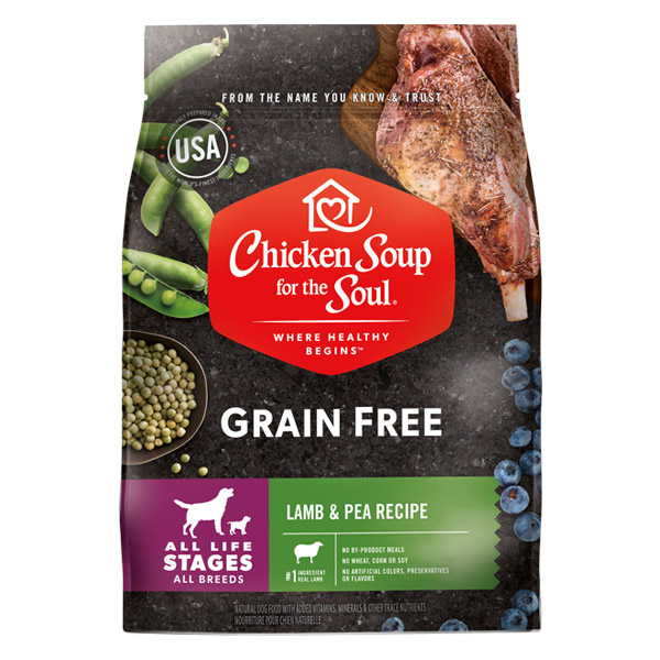 Benefits of Grain Free Dog Food - Lamb & Pea Recipe (front of bag)