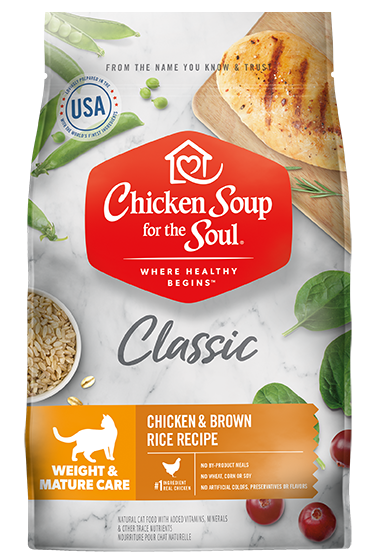 Classic Weight & Mature Care Dry Cat Food - Chicken & Brown Rice Recipe (front view)
