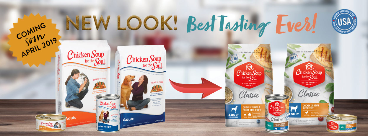 Chicken Soup for the Soul Classic Pet Food: New Look