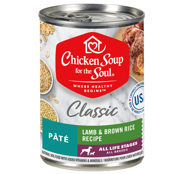 Classic Wet Dog Food - Lamb & Brown Rice Recipe Pâté (front of can)
