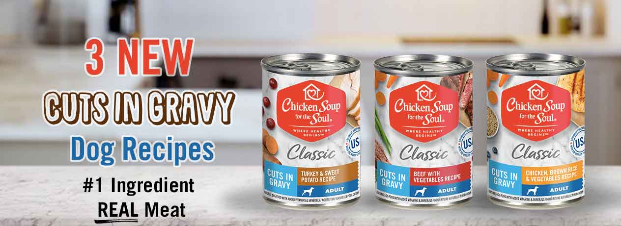 Chicken Soup for the Soul Dog Food: New Cuts in Gravy Recipes