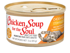 Grain Free Wet Cat Food - Chicken Stew with Sweet Potatoes & Spinach Can