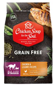 Grain Free Cat Food - Chicken & Legumes Recipe (front view)