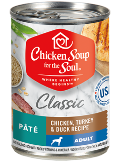 Classic Adult Dog Wet Food - Chicken, Turkey & Duck Recipe Pâté (front view)