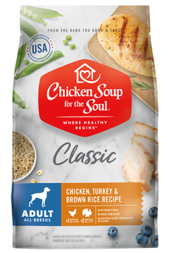 Classic Adult Dry Dog Food - Chicken, Turkey & Brown Rice Recipe (front view image)