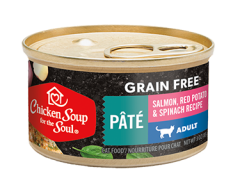 Grain Free Wet Cat Food - Salmon, Red Potato & Spinach Recipe Pâté image