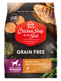 Grain Free Dog Food - Chicken, Pea & Sweet Potato Recipe (front view image)
