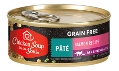 Grain Free Wet Cat Food - Salmon Recipe Pâté (front view)