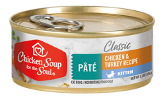 Classic Kitten Wet Food - Chicken & Turkey Recipe Pâté (front view)