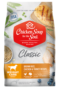Classic Weight Care Dry Dog Food - Brown Rice, Chicken & Turkey Recipe (front view image)