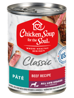 Classic Wet Dog Food - Beef Recipe Pâté (front view)