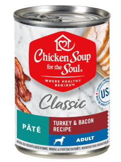 Classic Wet Dog Food - Turkey and Bacon Recipe Pâté (front view)